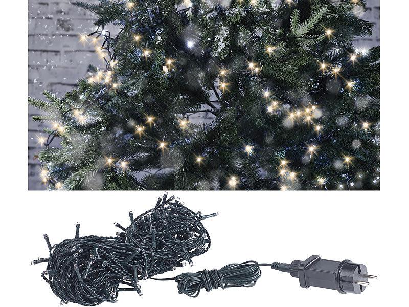 Weihnachtsbeleuchtung Außen Tannenbaum.Lunartec Weihnachtskerzen Led Lichterkette Mit 160 Leds Für Innen