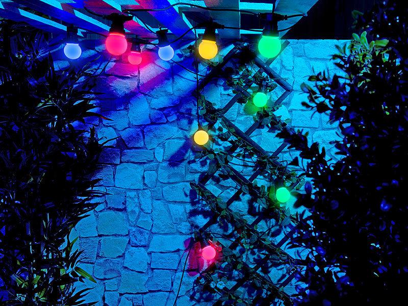 Lunartec party beleuchtungen party led lichterkette m 10 - Aussenbeleuchtungen garten ...