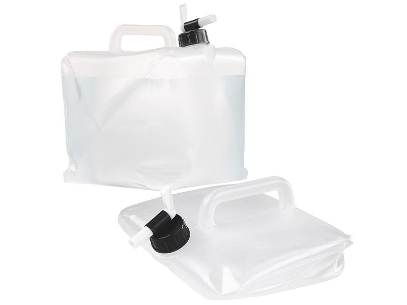semptec kanister faltbarer wasserkanister mit zapfhahn 10 liter ideal f r trinkwasser wasser. Black Bedroom Furniture Sets. Home Design Ideas
