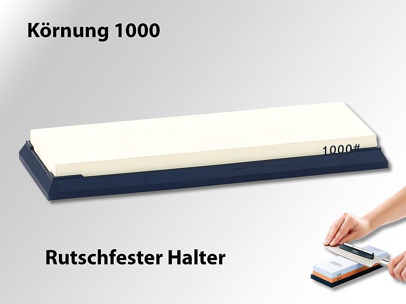 Wasser-Schleifstein für Messer, mit rutschfestem Halter, Körnung 1000