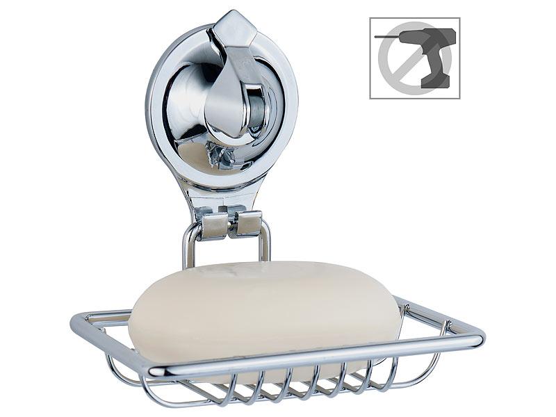 Edelstahl Seifenhalter Seifenschale Seifenablage ohne bohren Soap Halterung DE