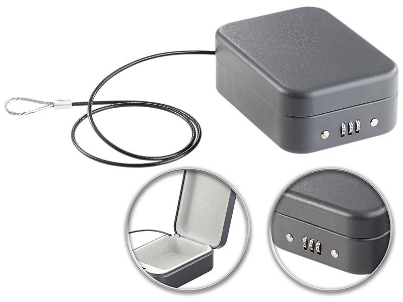 xcase geldkassette mini stahl safe f r reise auto. Black Bedroom Furniture Sets. Home Design Ideas