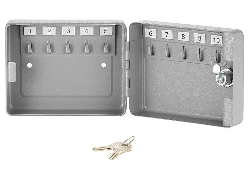 Xcase Schlüsselkasten: Mini-Stahl-Schlüsselschrank für 10 Schlüssel ...
