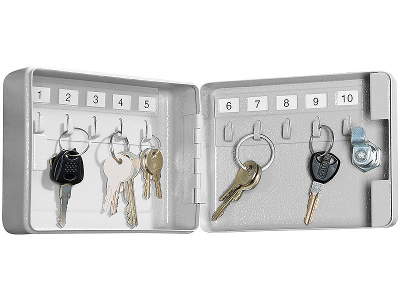 Xcase schl sselk sten mini stahl schl sselschrank f r 10 for Sicherheitsschloss offnen