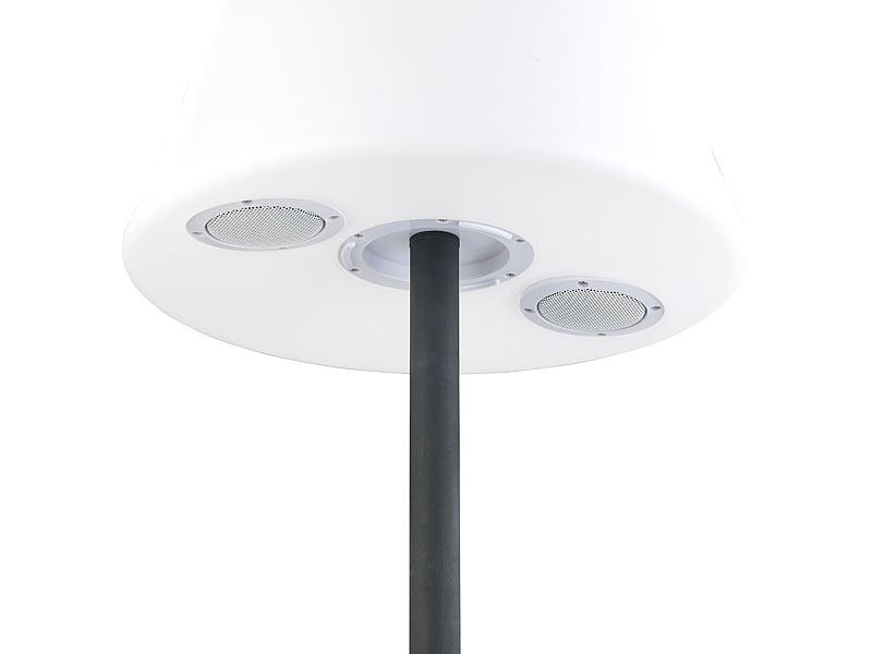 Lunartec solar stehlampe: solar led stehleuchte lautsprecher
