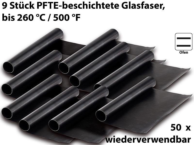 40x33cm Dauer BBQ Grillmatte Grillunterlage Teflon Backmatte Bratfolie 5er Set