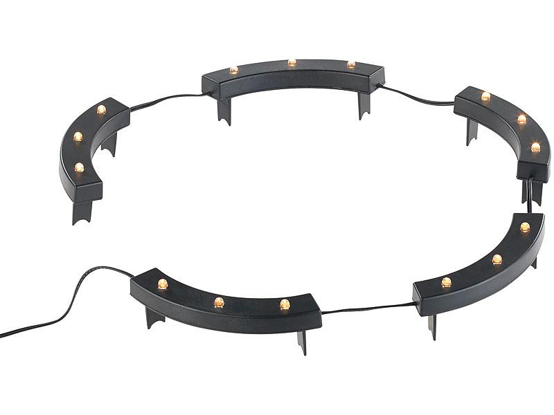 lunartec solar rundum licht f r pflanzen 15 leds d mmerungssensor ip44. Black Bedroom Furniture Sets. Home Design Ideas