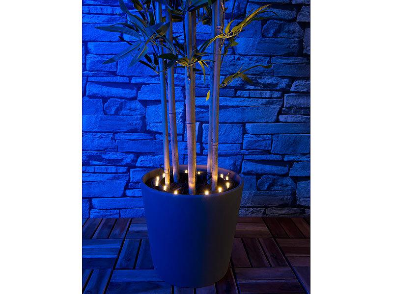 lunartec boden solarleuchten solar rundum licht f r pflanzen 15 leds d mmerungssensor ip44. Black Bedroom Furniture Sets. Home Design Ideas