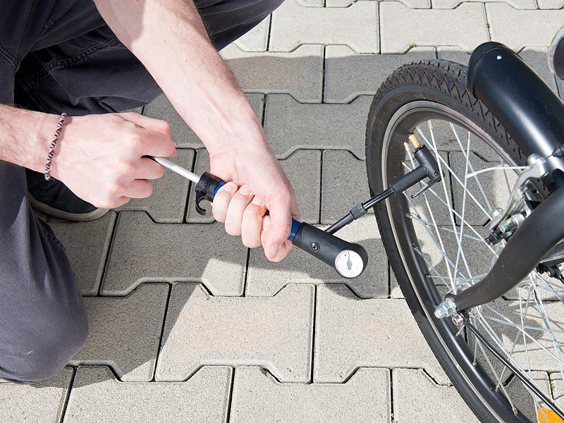 AGT Fahrrad Luftpumpe: Mini-Fahrradpumpe für Rennräder ...