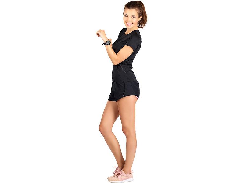 pearl sports 9in1 sportuhr mit pulsmessung und 50 tage. Black Bedroom Furniture Sets. Home Design Ideas