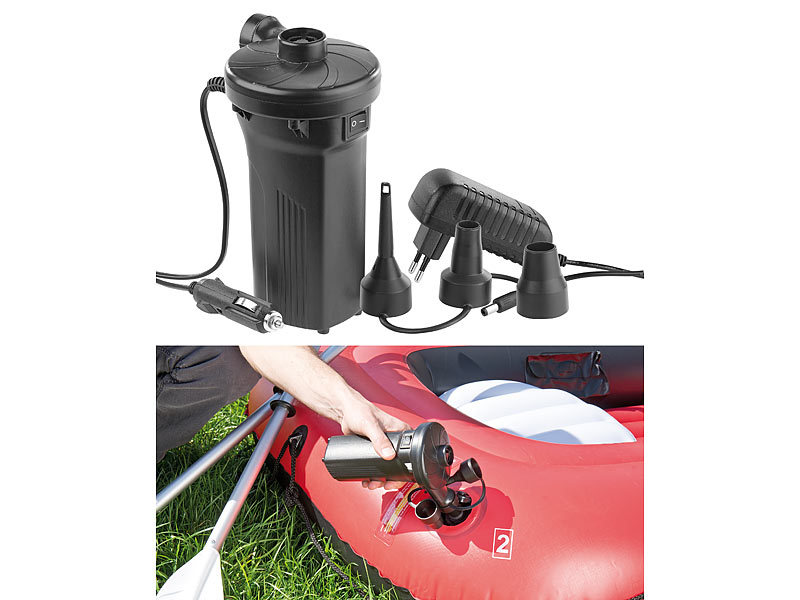 agt akku kompressor elektrische akku luftpumpe mit 3 aufs tzen f r 12 230 v 50 watt pumpen. Black Bedroom Furniture Sets. Home Design Ideas