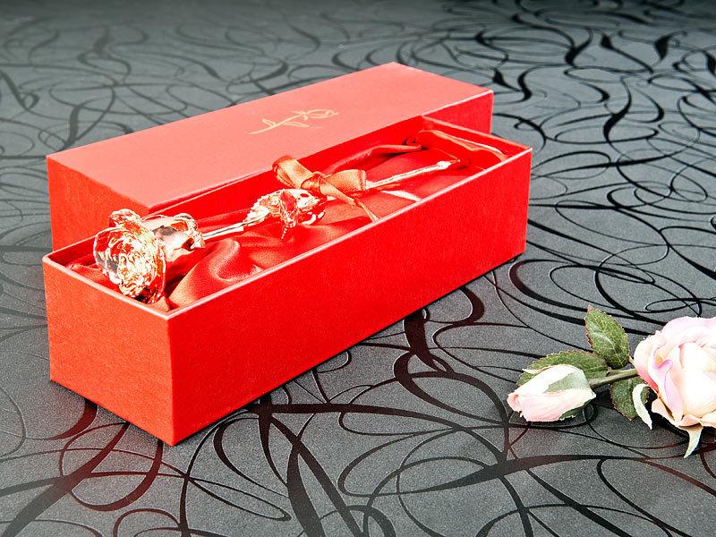 st leonhard goldene rose echte rose f r immer sch n mit 18 kar tigem ros gold veredelt 28. Black Bedroom Furniture Sets. Home Design Ideas