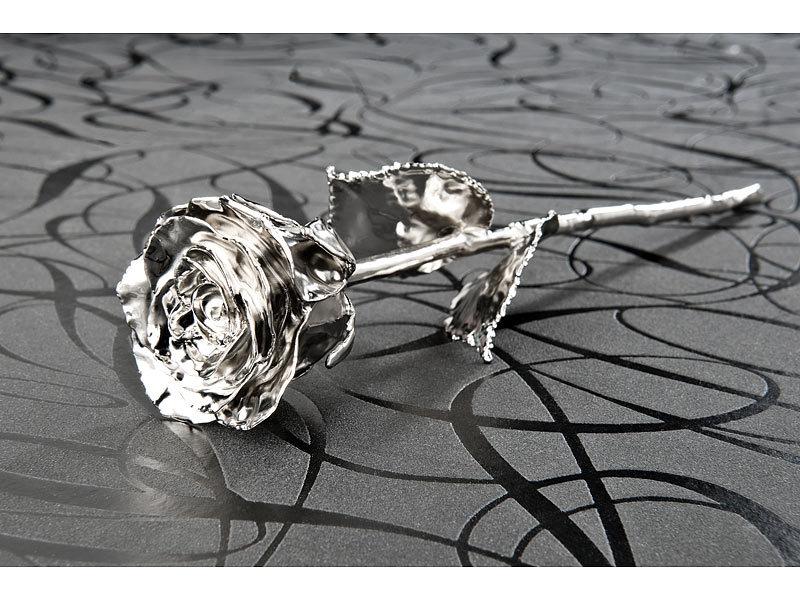 st leonhard rose platiniert echte rose f r immer sch n mit 18 kar tigem platin veredelt 28. Black Bedroom Furniture Sets. Home Design Ideas