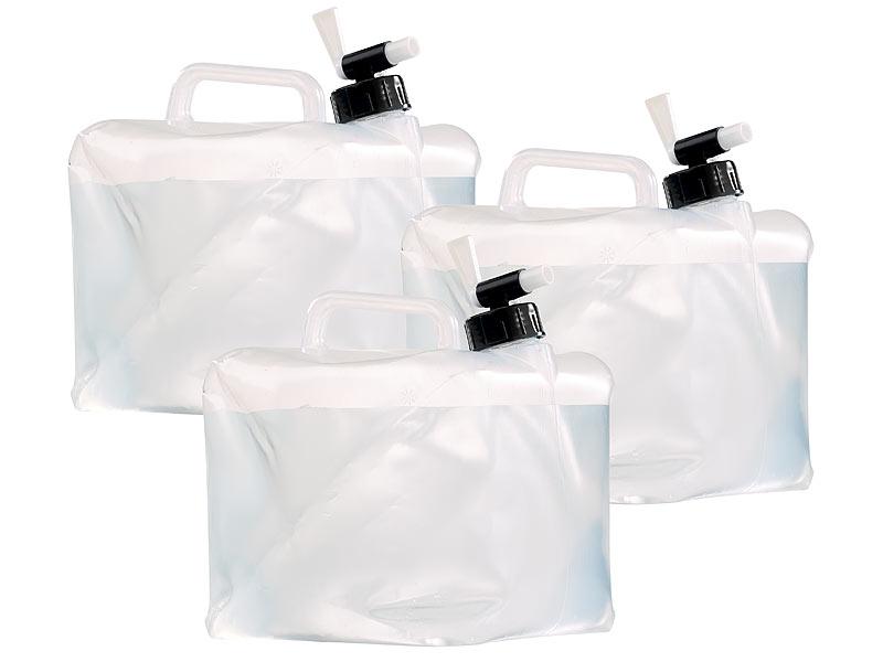 semptec falt trinkwasser tank faltbare wasserkanister mit zapfhahn 5 liter 3er set kanister. Black Bedroom Furniture Sets. Home Design Ideas