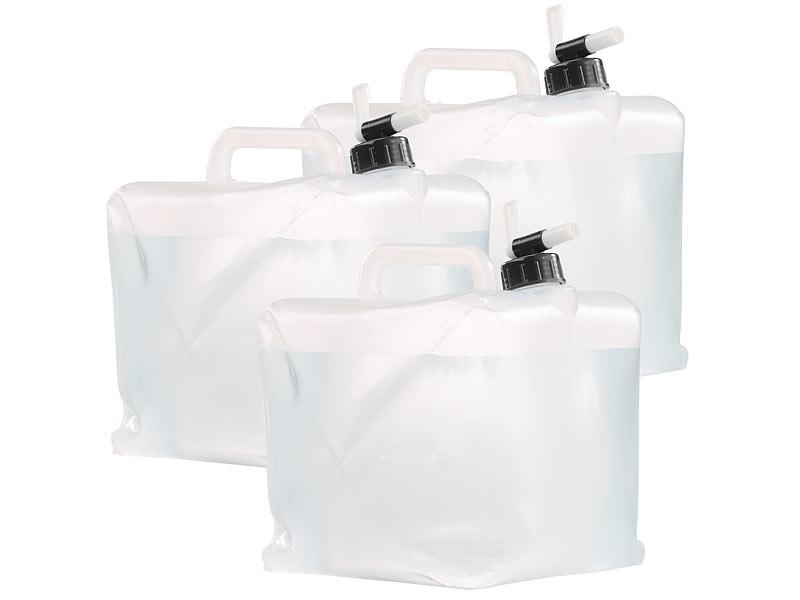 semptec wasserkaniseter faltbare wasserkanister mit zapfhahn 10 liter 3er set kanister. Black Bedroom Furniture Sets. Home Design Ideas