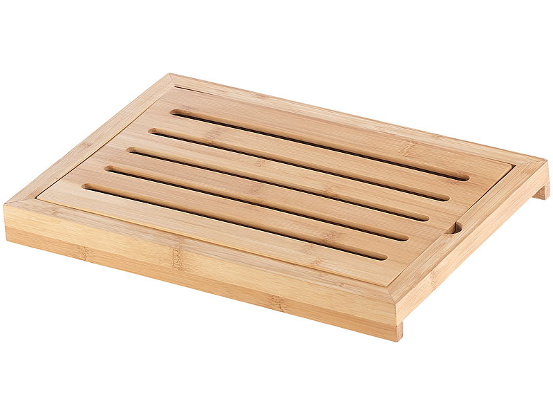 rosenstein s hne schneidbrett bambus schneidebrett mit kr melrost und auffangschale holzbrett. Black Bedroom Furniture Sets. Home Design Ideas