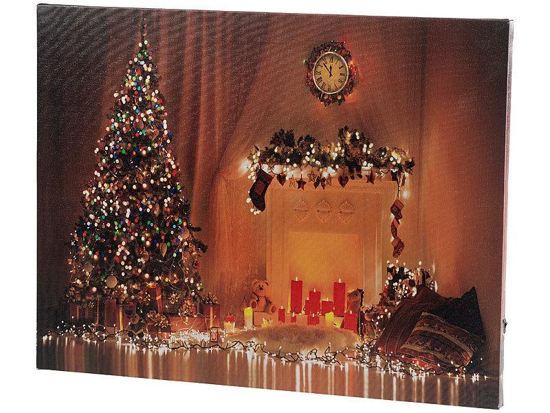 infactory led weihnachtsbilder wandbild weihnachten mit farbwechselnder led beleuchtung 50 x. Black Bedroom Furniture Sets. Home Design Ideas