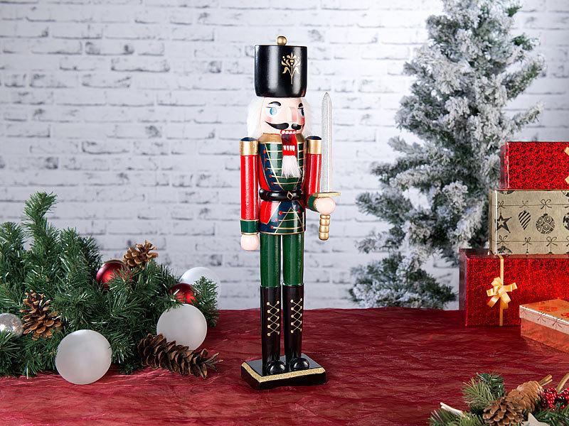 infactory Weihnachtsschmuck: Handbemalter Deko-Nussknacker \