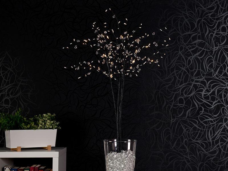 lunartec lichterzweige 5 deko zweige je 36 kunststoff knospen 6 leds batteriebetr timer. Black Bedroom Furniture Sets. Home Design Ideas