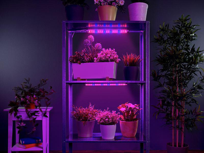 lunartec grow led 2er set led pflanzenunterbauleuchte mit rot blau lichtkombination led. Black Bedroom Furniture Sets. Home Design Ideas