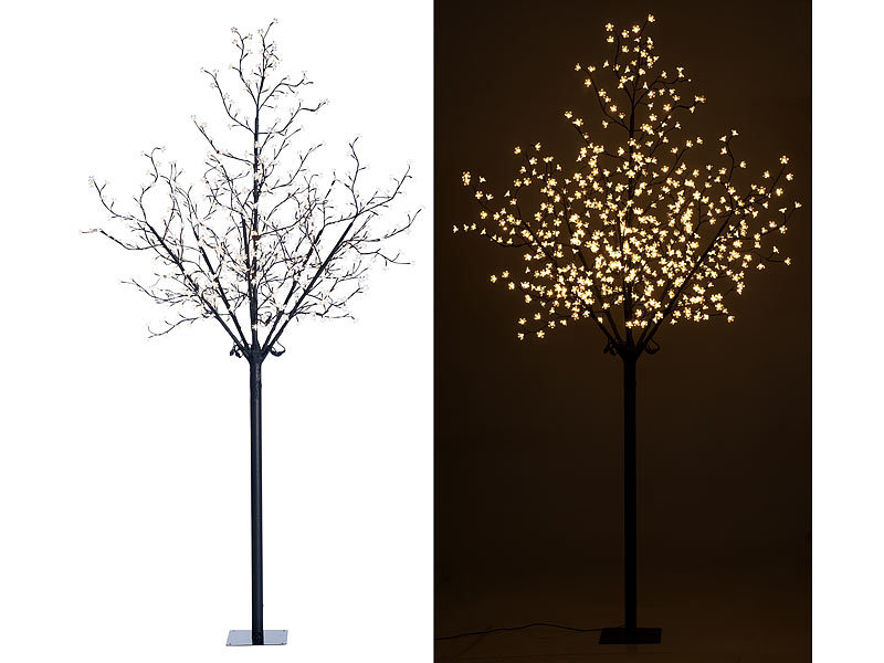 lunartec led lichterbaum led deko baum mit 600. Black Bedroom Furniture Sets. Home Design Ideas
