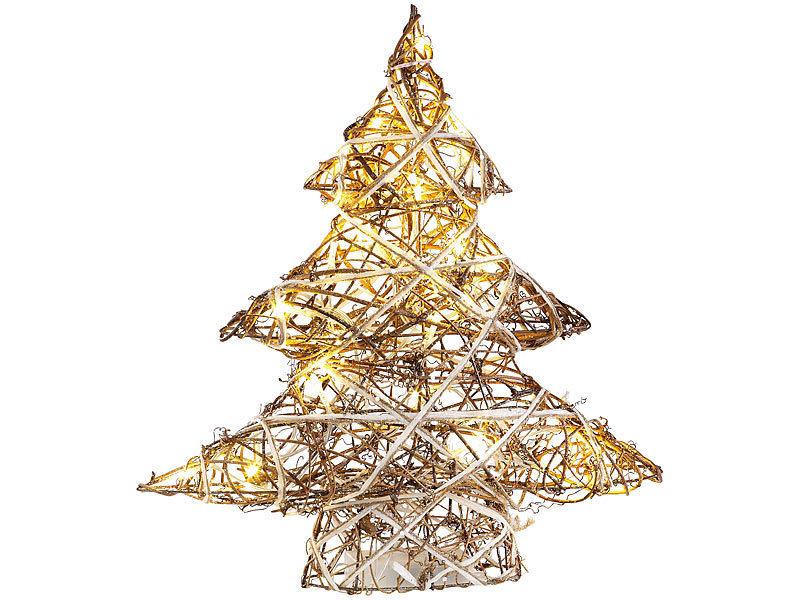 lunartec led fensterdeko handgefertigter deko weihnachtsbaum mit 20 warmwei en leds 40 cm. Black Bedroom Furniture Sets. Home Design Ideas