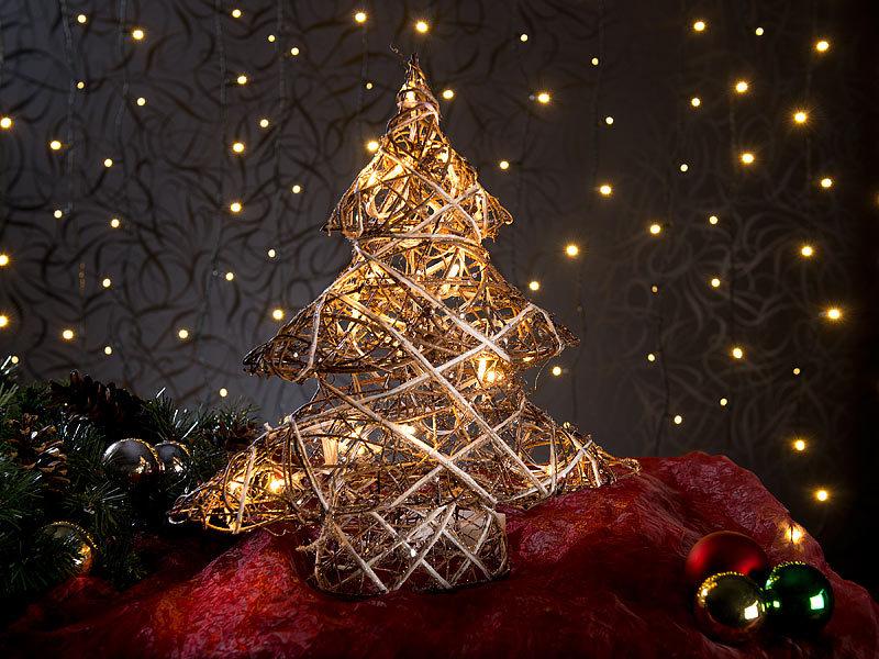 lunartec dekoweihnachtsbaum handgefertigter deko weihnachtsbaum mit 20 warmwei en leds 40 cm. Black Bedroom Furniture Sets. Home Design Ideas