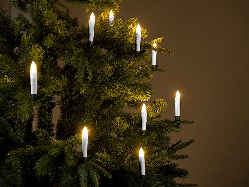 lunartec christbaumbeleuchtung 30er set led weihnachtsbaumkerzen mit fernbedienung und timer. Black Bedroom Furniture Sets. Home Design Ideas