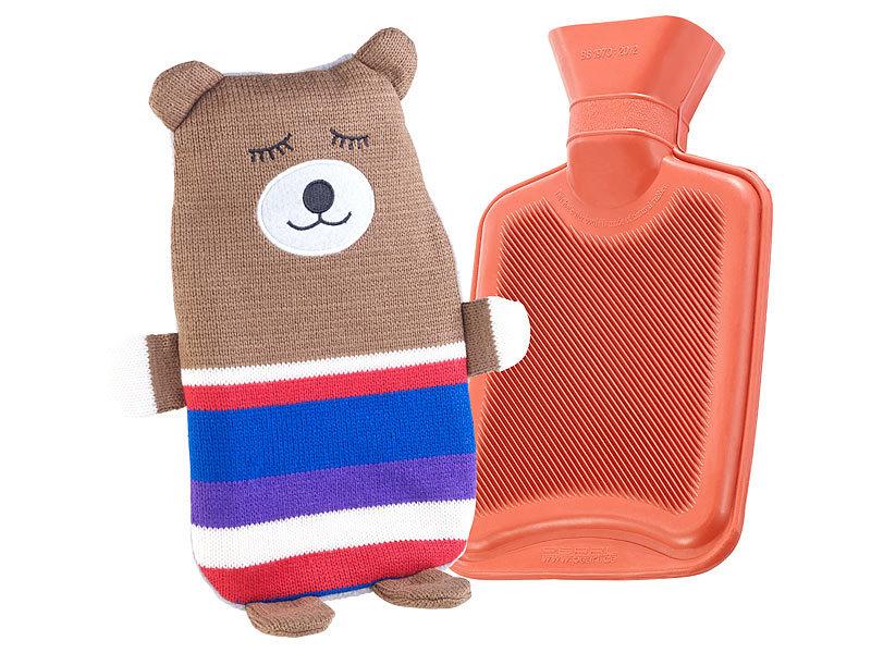 infactory gummi w rmflasche kinder w rmflasche mit teddyb r bezug 1 liter w rmflasche mit. Black Bedroom Furniture Sets. Home Design Ideas