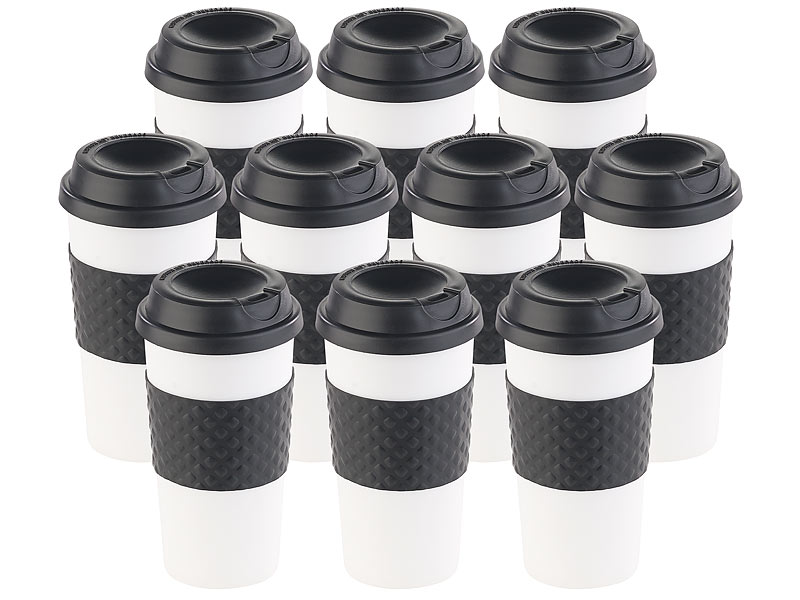 pearl tea to go becher 10er set coffee to go becher deckel 475 ml doppelwandig bpa frei. Black Bedroom Furniture Sets. Home Design Ideas