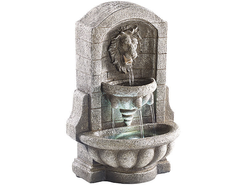 infactory beleuchteter zimmerbrunnen l wenkopf mit led und pumpe. Black Bedroom Furniture Sets. Home Design Ideas