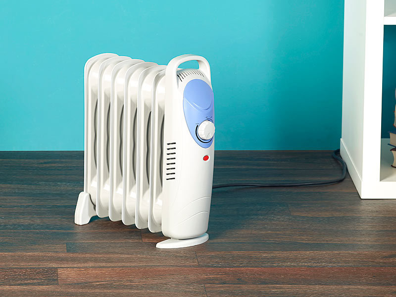 sichler heizradiator l radiator mit 7 rippen und thermostat 800 w l heizung. Black Bedroom Furniture Sets. Home Design Ideas