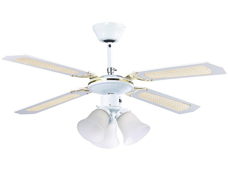 Wunderbar Lampe Mit Ventilator: Sichler Deckenventilator VT 696 Mit Weißen  Holzflügeln U0026 Beleuchtung, Ø