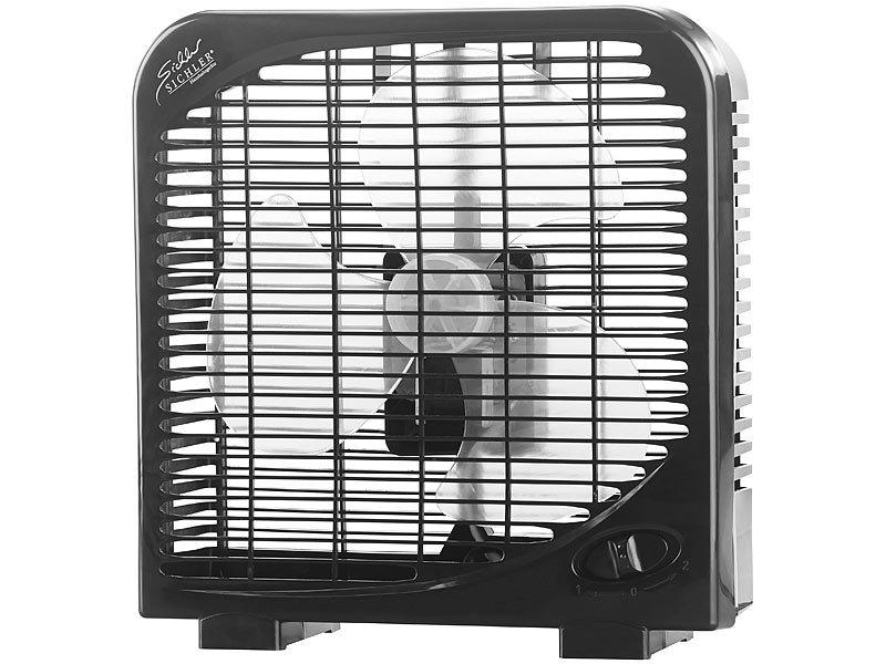 sichler kleiner tischventilator kompakter tischventilator mit 2 geschwindigkeiten 28 w 20. Black Bedroom Furniture Sets. Home Design Ideas