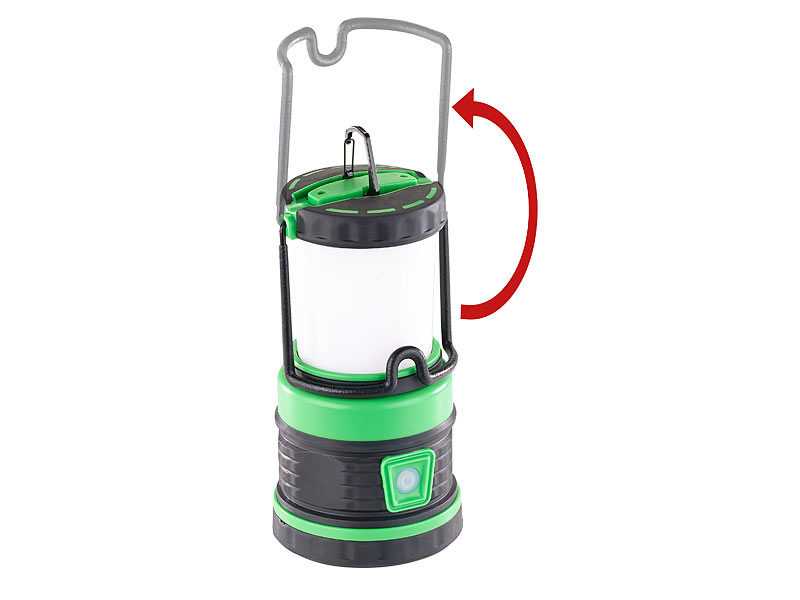 Lunartec 3in1 led akku campinglaterne mit deckenlicht und for Led deckenlicht