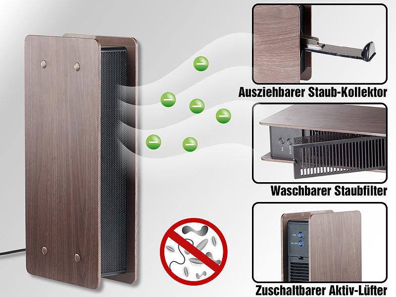 newgen medicals ozon luftreiniger luftreiniger mit ionisator und zuschaltbarem l fter dunkle. Black Bedroom Furniture Sets. Home Design Ideas