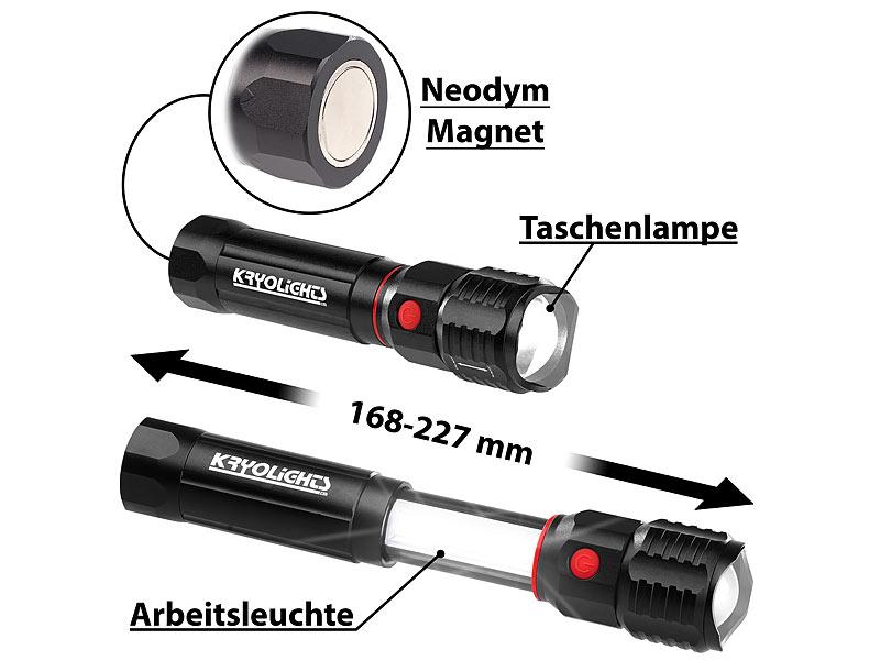 Kryolights handleuchte in taschenlampe arbeitsleuchte mit x
