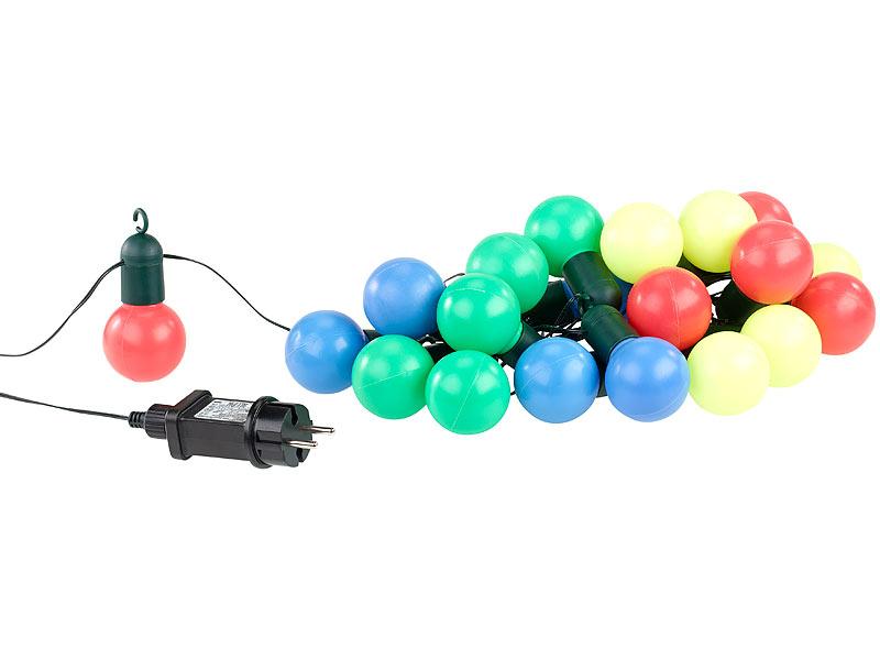 Lunartec Party Lichterkette: 4-farbige LED-Lichterkette mit 20 ...