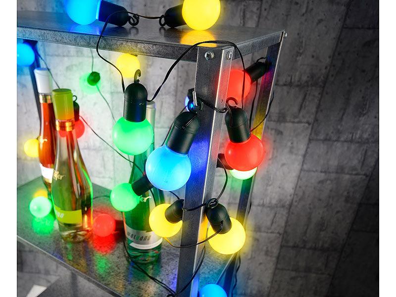 ... Lunartec 4 Farbige LED Lichterkette Mit 20 Lämpchen, 1,2 Watt, ...