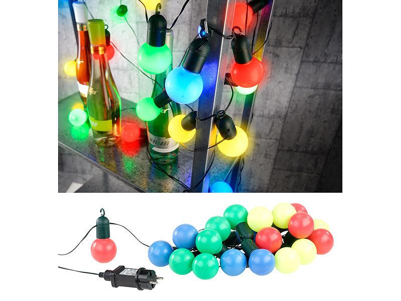 lunartec partylichterketten 4 farbige led lichterkette mit 20 l mpchen 1 2 watt 475 cm ip44. Black Bedroom Furniture Sets. Home Design Ideas
