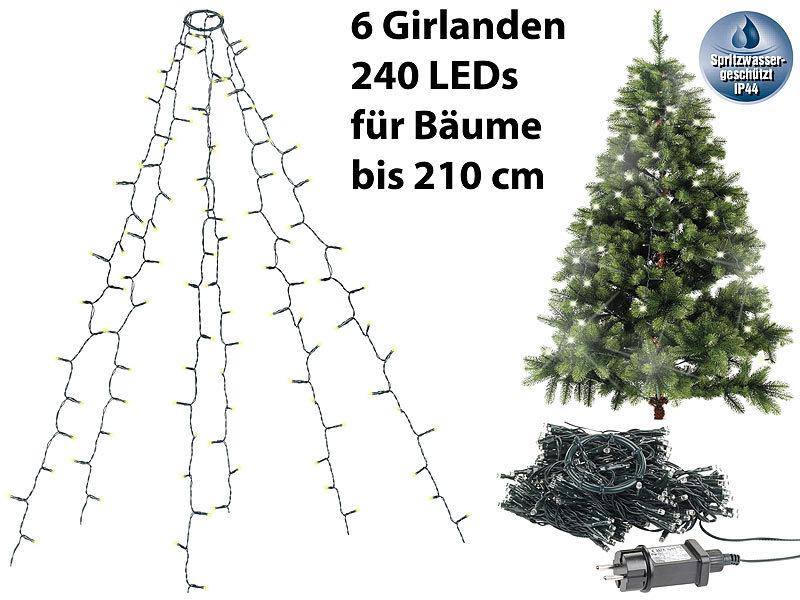 Lunartec Weihnachtsbeleuchtung Weihnachtsbaum überwurf Lichterkette