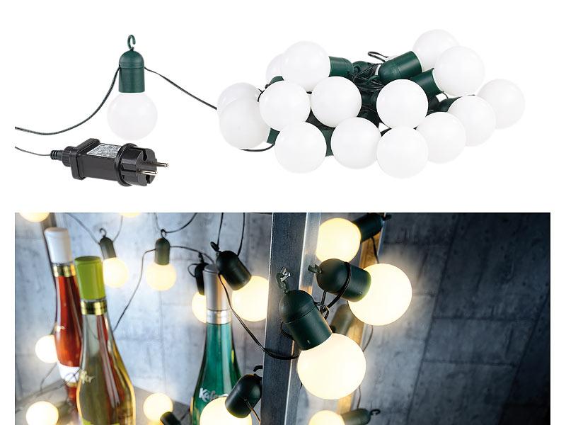 lunartec lichterkette gl hbirnen led lichterkette mit 20 l mpchen 1 2 watt warmwei 475 cm. Black Bedroom Furniture Sets. Home Design Ideas