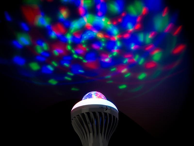 ... Lunartec Rotierende Disco LED Lampe, Galaxie Effekt, Weißlichtmodus,  E27, ...