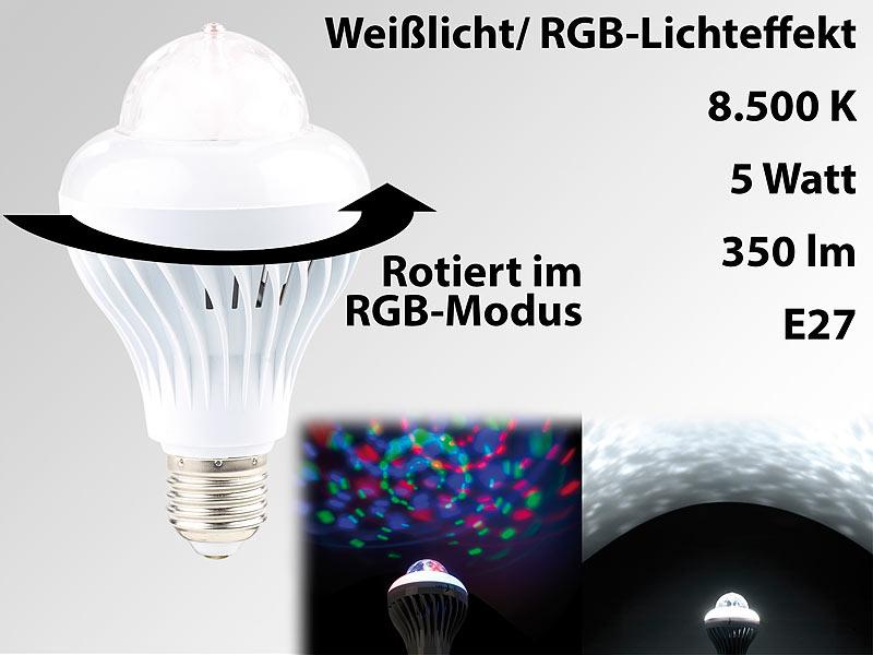 lunartec discokugel rotierende disco led lampe galaxie effekt wei lichtmodus e27 5 w disco. Black Bedroom Furniture Sets. Home Design Ideas