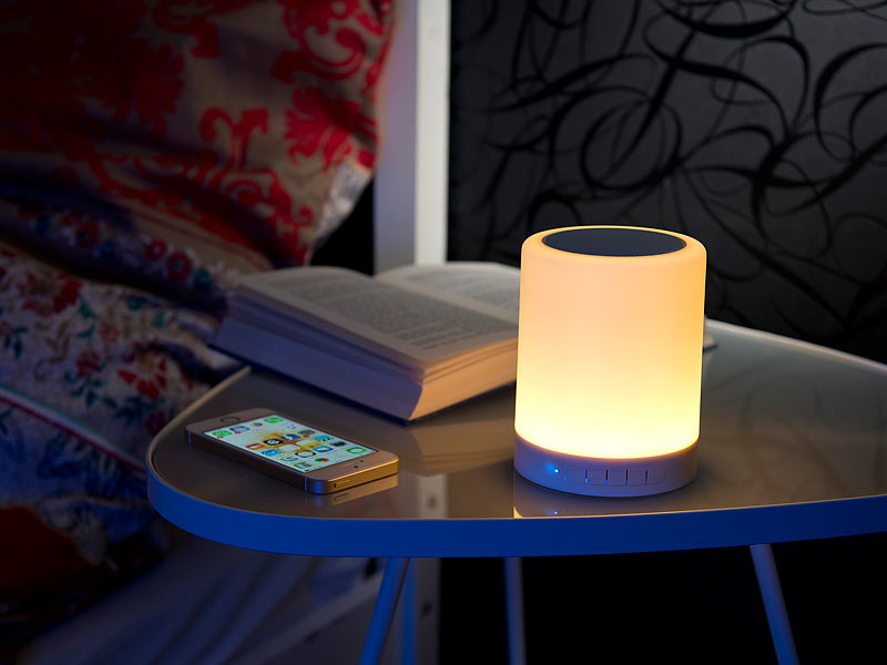 lunartec 2in1 lautsprecher mit bluetooth led. Black Bedroom Furniture Sets. Home Design Ideas