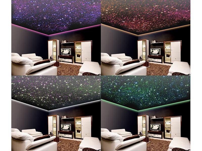 lunartec led lichtfaser set glasfaser rgb led sternenhimmel mit fernbedienung und 200. Black Bedroom Furniture Sets. Home Design Ideas