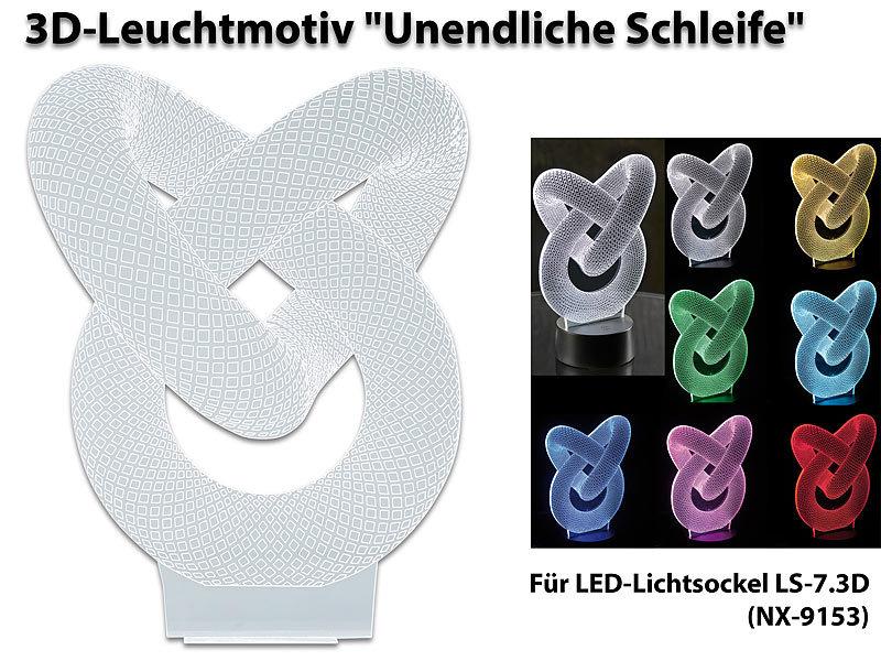 Lunartec 3D Lampe: 3D-Leuchtmotiv \