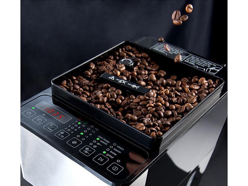 rosenstein s hne vollautomatische filter kaffeemaschine kegelmahlwerk touch bedienung. Black Bedroom Furniture Sets. Home Design Ideas