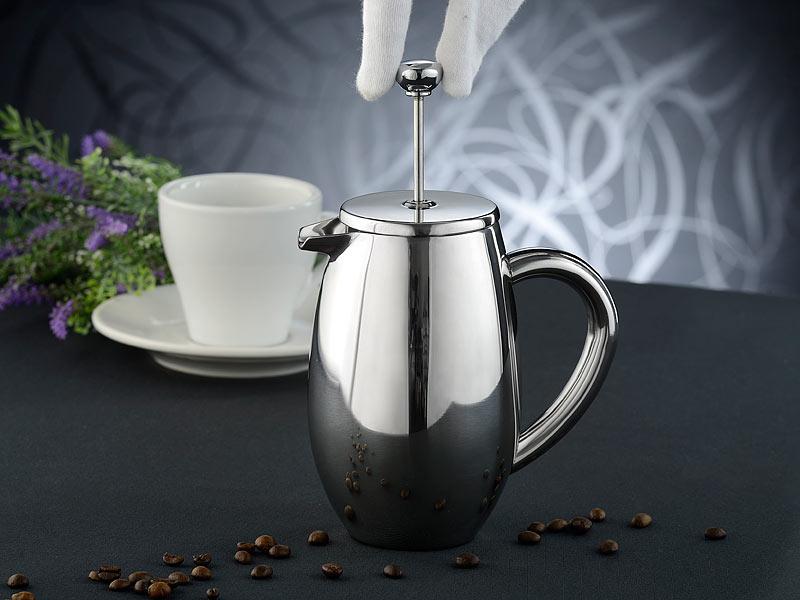 rosenstein s hne kaffeepresse thermo kaffeebereiter french press edelstahl doppelwandig. Black Bedroom Furniture Sets. Home Design Ideas