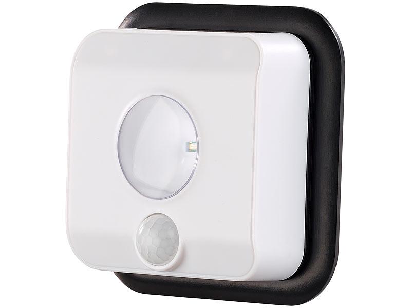 luminea led wandspot f r innen au en bewegungssensor 7 monate laufzeit. Black Bedroom Furniture Sets. Home Design Ideas